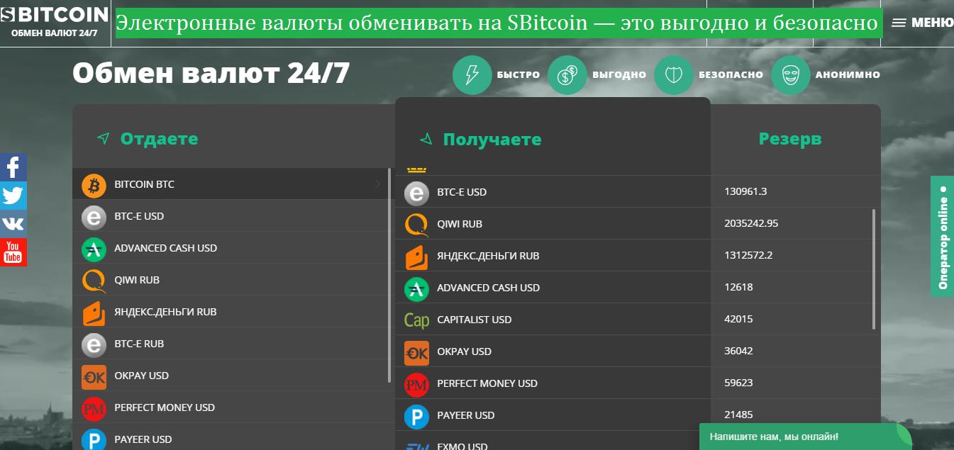 Обменивать на SBitcoin выгодно и безопасно