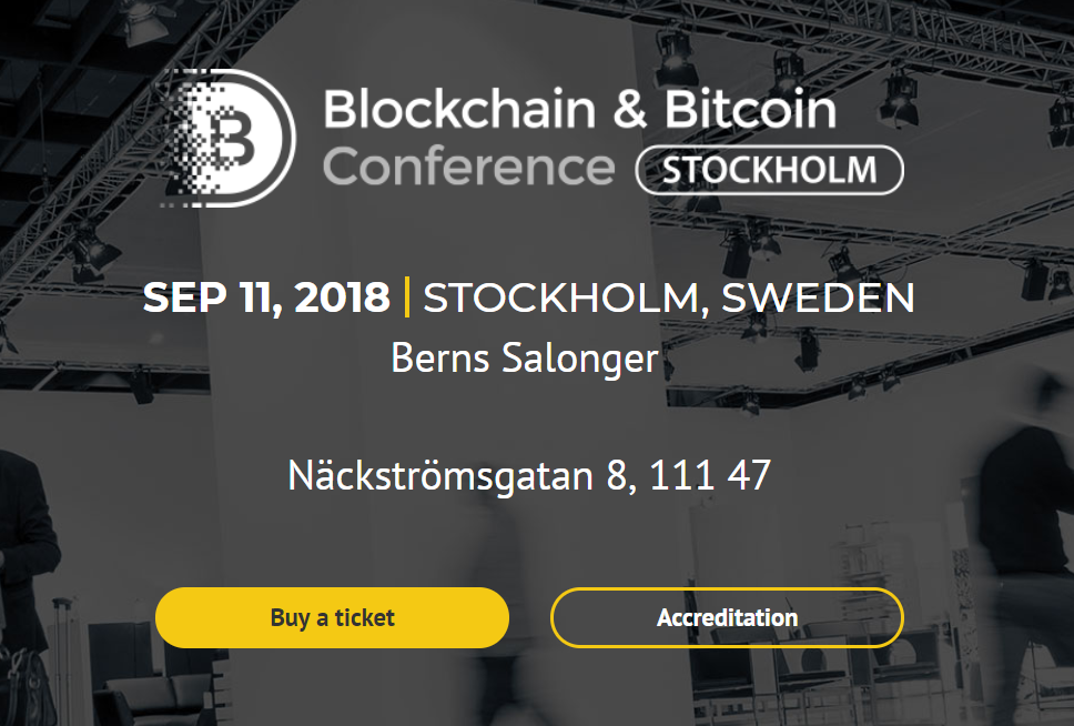 Blockchain & Bitcoin Conference Stockholm