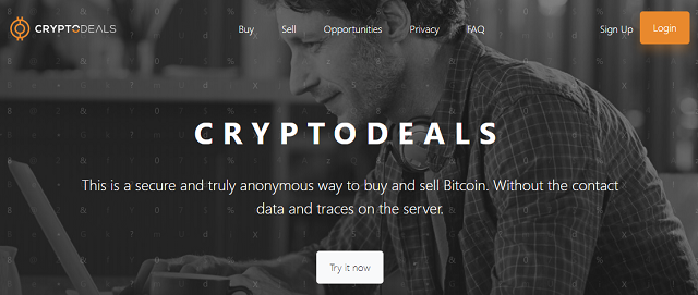 CryptoDeals — as a method of anonymous purchase and sale of cryptocurrency 2