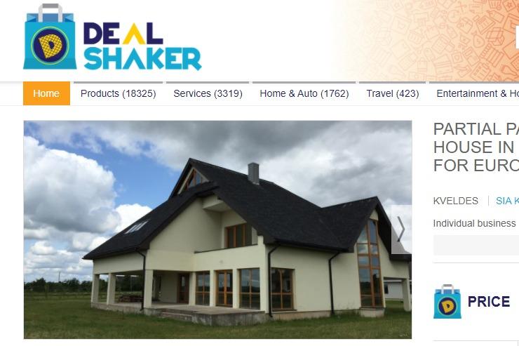 Продажа дома в Латвии за 75% ONE