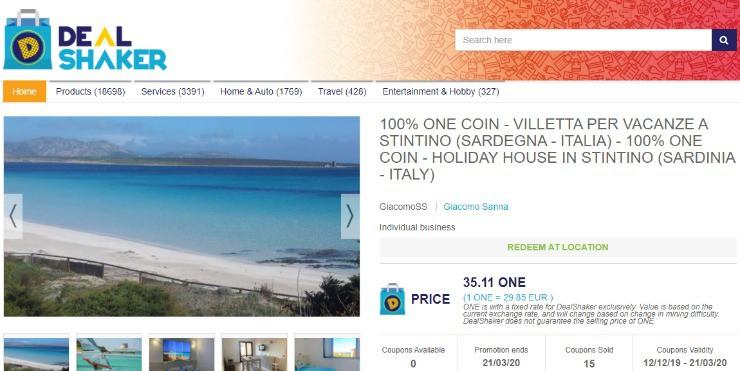 Dealshaker: 100% ONE coin (35.11 ONE): дом отдыха в stintino (Sardinia - Italy).