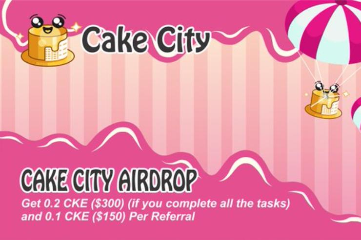 Cake City эйрдроп токенов CKE