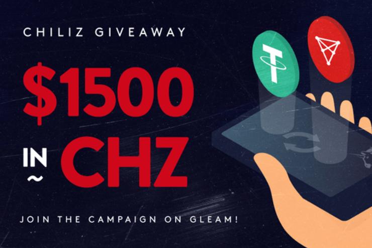 Chiliz эйрдроп токенов CHZ на $1500